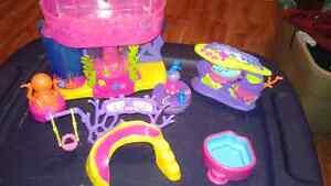 Polly pocket water fun set and boat