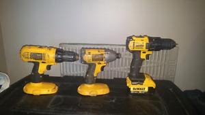 DeWalt 18v impact and drill & 20v max drill