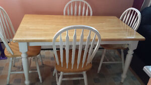 Kitchen table and 4 chairs - 5 feet by 3 feet