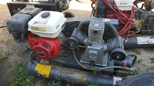 Air compressors...honda engines.  Brand new 18 inch dodge tires