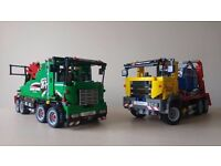 Lego Technic service truck and container truck for sale