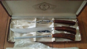 Glo Hill Cutlery Co. The Connoisseurs Choice Carving Set Vintage
