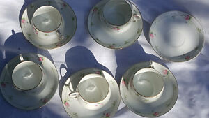 Nippon china hand painted lot of 18 pcs, 5 cups and saucers +