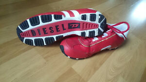 Diesel red sneakers