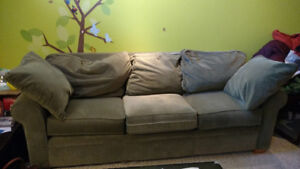 3 seat soaf and a couch for free