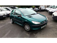 Peugeot 206 1.1 2001MY LX**IDEAL FIRST CAR!**SUPER LOW MILEAGE**