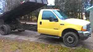 450 7.3 FORD DUMP bed and dump trailer combo