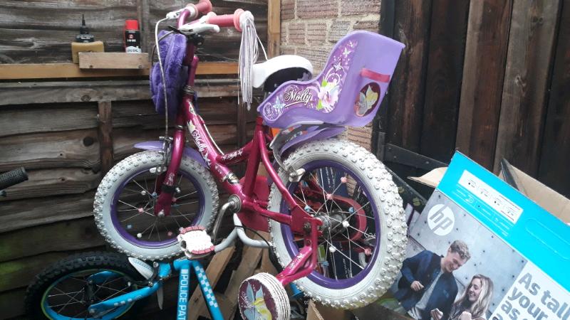 girl bike, for 4 5 years old, used   in Hersham, Surrey   Gumtree