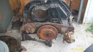 vieux moteur et transmission de volkswagen