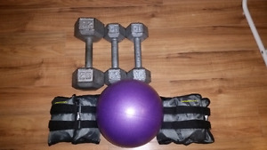 Exercise equipment weights ball