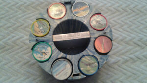 1961 Jello/Hostess Airplane Coins Full Set With Holder
