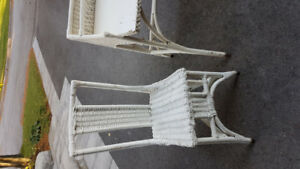 WICKER DESK AND CHAIR FOR SALE