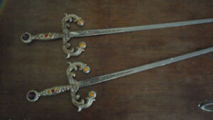 PAIR OF JEWELLED SWORDS