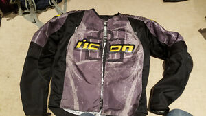 Icon Overlord Type 1 Textile Motorcycle Jacket - Large