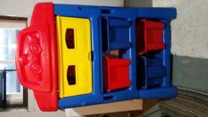 Fisher Price toy shelf