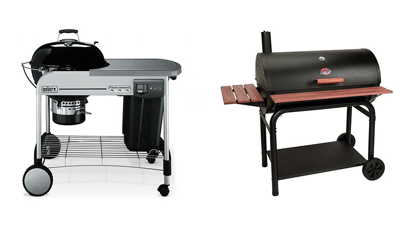 the weber performer platinum vs the char griller outlaw charcoal grill smoker ebay. Black Bedroom Furniture Sets. Home Design Ideas