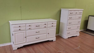 Professionally painted today pair of solid wood dressers