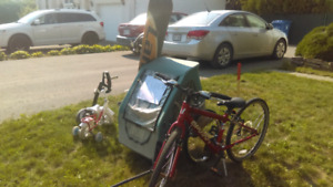 Bicyclette snowboard trailer etc...