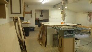 Wood shop/ shop space for rent