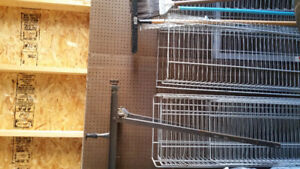 Shelving panels/ wire baskets