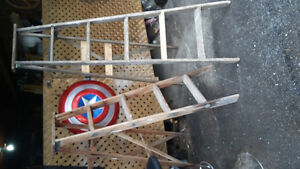 Selling /2 wooden ladders