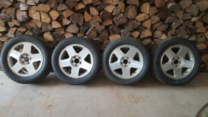 Blizzak WS80 235-55-17 Winter Tires & Rims