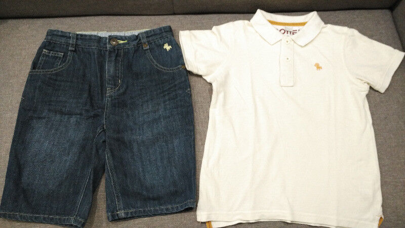 Preloved Children's Clothing Set1 - Poney Polo Shirt + short