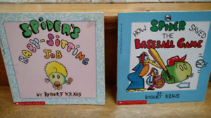 2 Spider series picture books by Robert Kraus