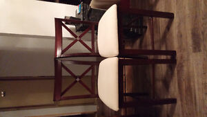 Set of 4 pub style chairs
