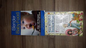 Baby food book & what to expect book together $5