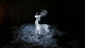 4ft White LED Christmas Lawn Reindeer