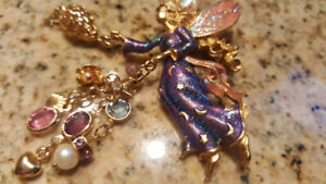 Vintage Kirks Folly Twinkle the Tooth Fairy Gold-tone Brooch Pin