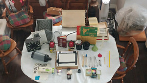 Complete darkroom set with enlarger and Canon Ae10 camera