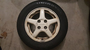14'' Acura Integra Rims, White, 4 set, Summer tires included