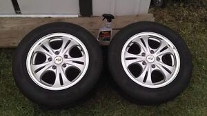 CHROME RTX RIMS - 2 KUMHO A/S P215/60/R15