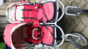 bumbleride double stroller with extras... jogging.