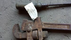 Antique Early Handtools. Cloth Tape + Nail puller Strathcona County Edmonton Area image 2