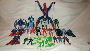 Dc,Marvel,power rangers,superman,batman,spiderman figures