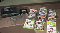 1 Xbox 360 with Kinect system, plus 2 controllers, and 12 games.
