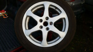 """INFINITI G35   17""""  FULL SIZE SPARE RIM AND TIRE ."""