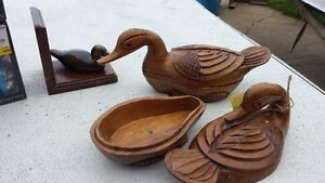 Duck Person Alert!! Hand Painted Ducks + Dishes Bookends Strathcona County Edmonton Area image 3