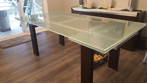 Glass Table, 2 Leafs