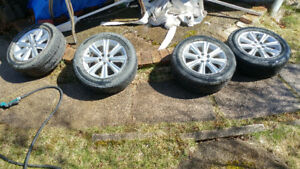 4 Subaru Rims with Tires 205-60-R16