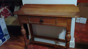 Hall table english oak with drawer