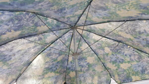umbrella with stand and table