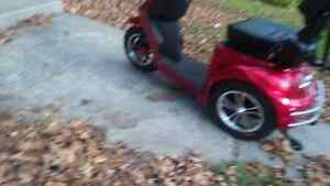 3 Wheel Scooter 350T Emmo 2016 Red  MUST SELL. Peterborough Peterborough Area image 2