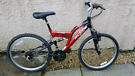 Full suspension mountain bike 24in wheels