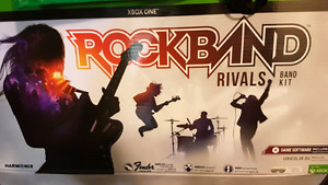 Rock band 4 game and band kit (Xbox one)