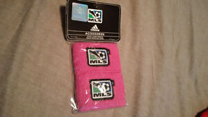 MLS Toronto FC Pink Wristbands plus Blue Jays Gloves Bobblehead
