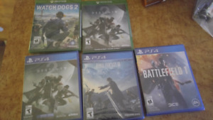 Xb1 and ps4 games
